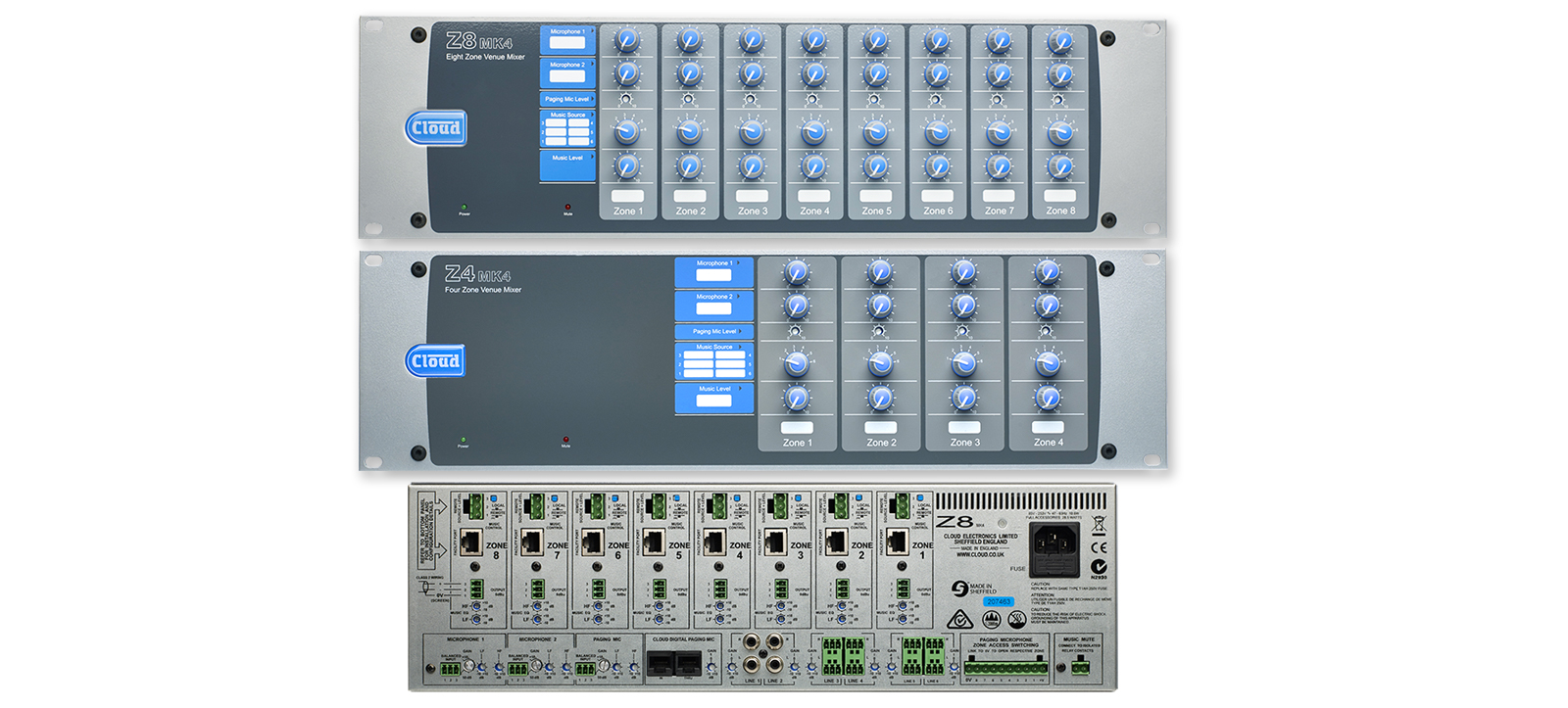 Cloud Z8 / Z4 MK4 Venue Zone Mixers - Shipping