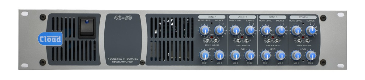 46-50 4 Zone Integrated Mixer Amplifier